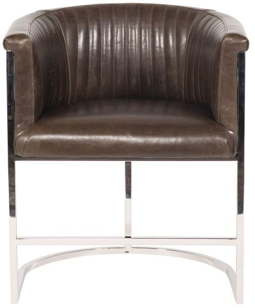 Vanguard Furniture: L972P-CH Harrison Plain Back Metal Frame Chair