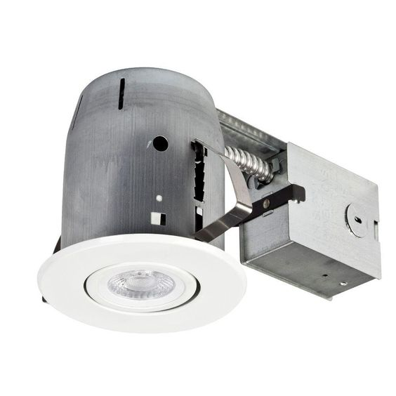 led ic rated swivel spotlight recessed lighting kit dimmable downlight. Black Bedroom Furniture Sets. Home Design Ideas