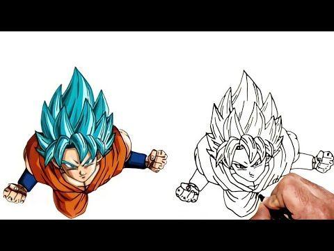 Drewing Goku Super Saiyan Blue Anime Dragon Ball رسم غوكو سوبر ساين الازرق خطوة بخطوة رسم انمى Youtube In 2021 Drawings Drawing Tutorial Animals