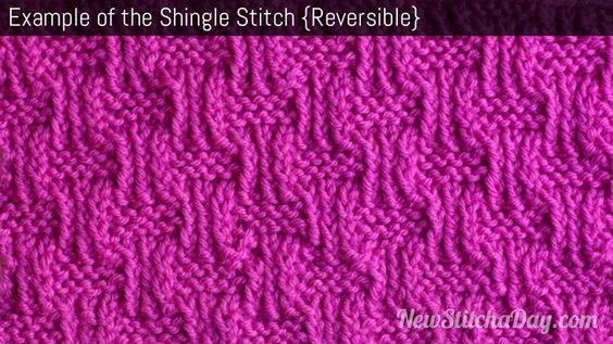 Example Of Knitting Pattern : Example of the Shingle Stitch Damask knitting, texture knitting, strukturst...