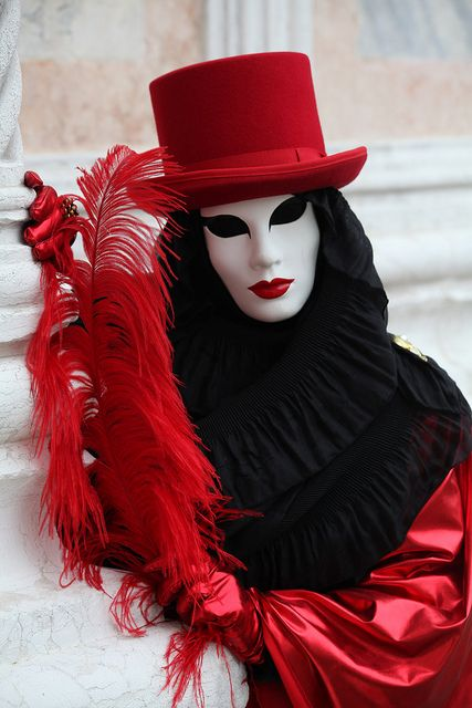Venice Carnival figure, Venice, Italy, via Flickr.