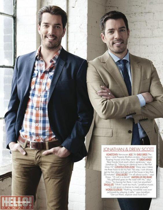 Tall dark handsome cheryl ng ng stark mrsilverscott for How tall are the property brothers