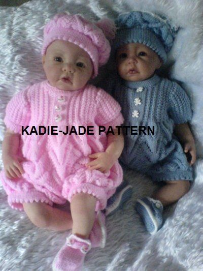 No 87 Kadiejade Knitting Pattern crochet and knit for baby or children Pi...