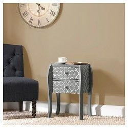 Qautrefoil Bombay End Table - Grey Price $172.49$