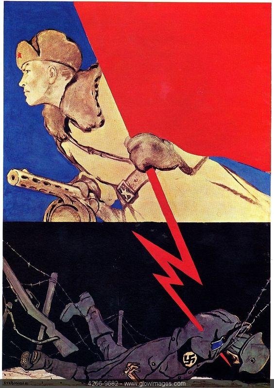 """Un ejemplo de propaganda soviética durante la II Guerra Mundial, que ellos denominan """"la gran guerra patria""""."""