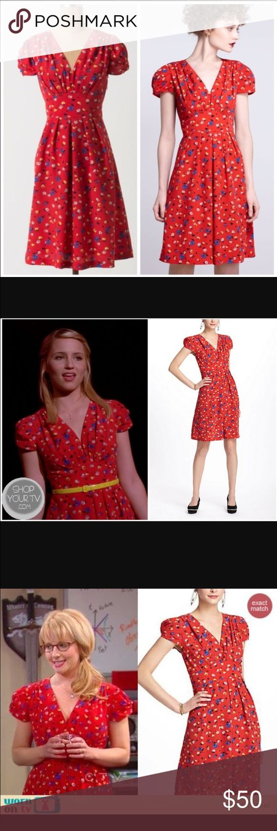 """Basque Floral Dress from Hi There by Karen Walker Excellent used condition, size 2 but runs slightly small. Stunning. Featured on tv several times. Very Modcloth or Emily and Finn. Laid flat, bust is 16"""", waist is 12.5"""". Anthropologie Dresses"""