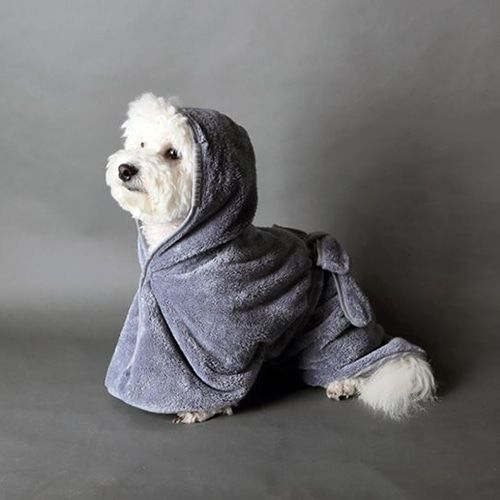 Pet In Beauty Pannie Microfiber Dog Bathrobe Gray Dog Towel Dognpet Dog Pajamas Cat And Dogs Pet Store Pet Accesso Dog Pet Store Pet Clothes Dog Modeling