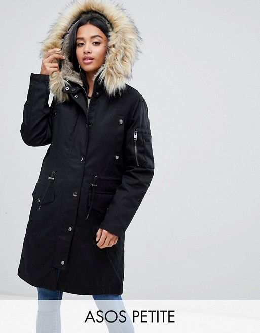 look good shoes sale factory outlet thoughts on DESIGN Petite parka with detachable faux fur liner   Fashion ...