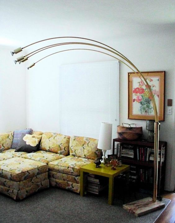 7' Original Vintage Mid Century Modern Brass by therecyclingethic