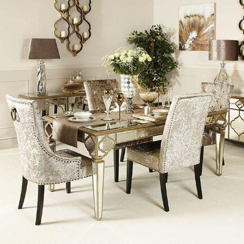 Arabian Mirrored Dining Table S Izobrazheniyami Sovremennaya