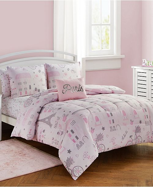 Sanders Love Paris Full Comforter Set Collection Reviews Home Macy S Full Comforter Sets Twin Comforter Sets Paris Comforter Set