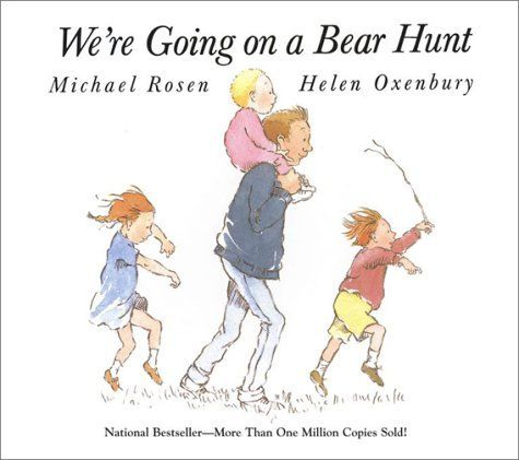 Perfect book to learn about PREPOSITIONS!    We're Going on a Bear Hunt by Michael Rosen, http://www.amazon.com/dp/0689853491/ref=cm_sw_r_pi_dp_Yl8pqb1VR7D65