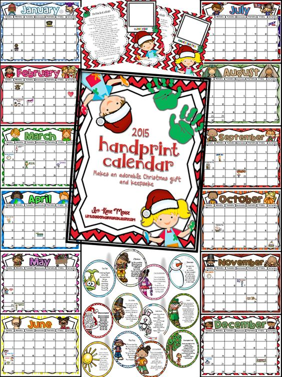 Kindergarten Calendar For Parents : Handprint calendar adorable christmas gift for