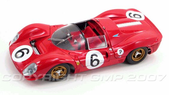 PhillyMint - GMP Masterpiece Collection 1967 Ferrari 330 P-4 Brands Hatch Winner Steward, Amon 1:18th Scale Diecast Model