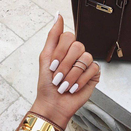 11 Different Nail Shapes The Kardashians Have Worn Different Nail Shapes White Acrylic Nails Kylie Nails