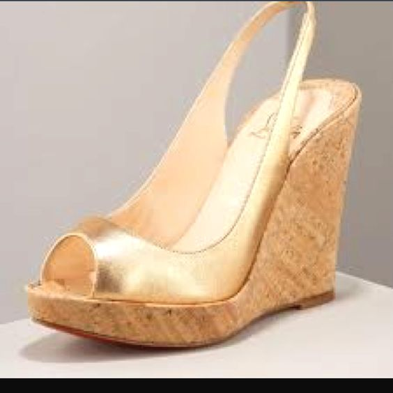 Gold wedges, Wedges and Gold wedge heels on Pinterest