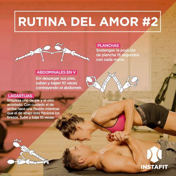 Cualquier rutina para hacer en pareja, los motivará y les dará mucha energía, además de que estás actividades juntos los unen más.