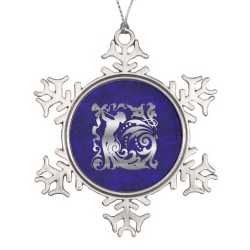 Decorative Silver Christmas Ornament by Graphic Allusions. #christmas