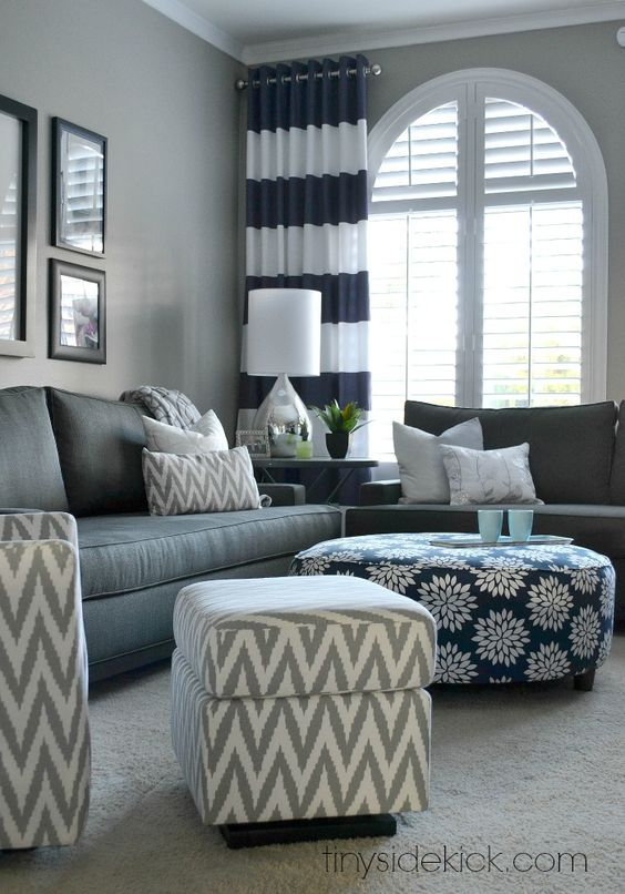 Bold and bright living room makeover before after for Bold living room ideas