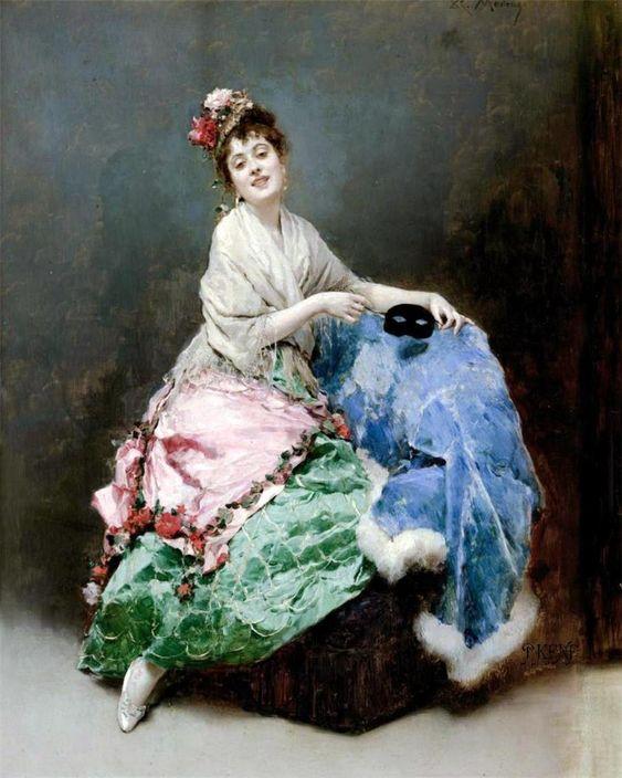 Portrait of a Lady (Raimundo de Madrazo y Garreta - ):