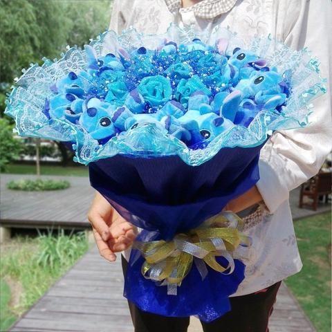 Stitch Magnifique Bouquet Stitch Couleur Bleu CADEAU SAINT VALENTIN livraison Fr