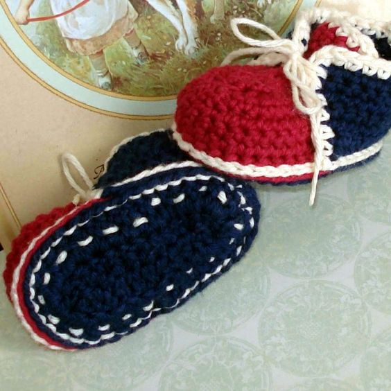 Free Crochet Baby Shoes Patterns Crochet pattern vintage ...