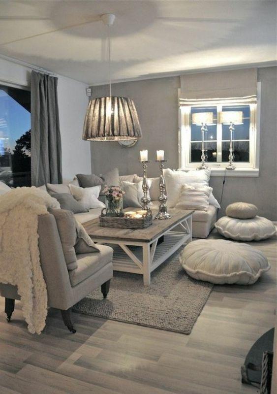 diseño cocinas abiertas salon iluminacion LED armarios blancos - deko bilder wohnzimmer