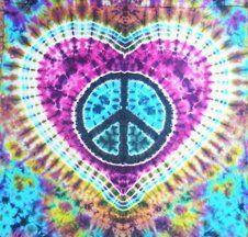 ➳➳➳☮American Hippie Art - Peace Sign .. Tie Dye