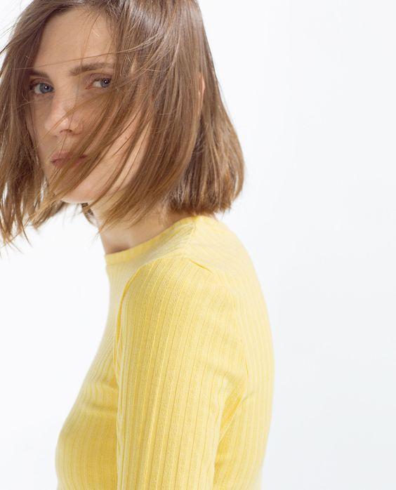 T - SHIRT CÔTELÉ - Tout voir - T - shirts - Femme - COLLECTION SS16 | ZARA Belgique