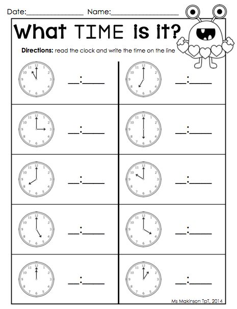 "Calendar Worksheet Ks : Search results for ""telling time printable worksheet ks"
