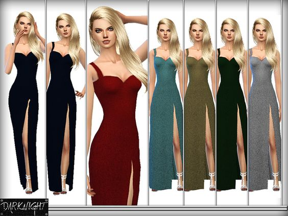 The Sims Resource: Midnight dress by DarkNighTt • Sims 4 Downloads