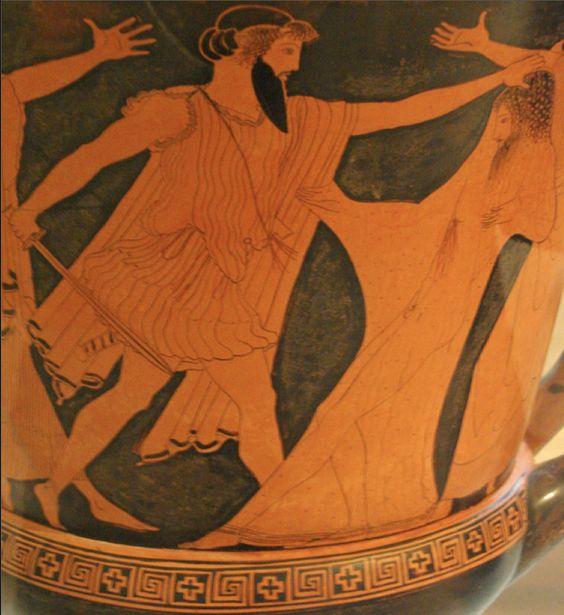 Aegisthos kills Agamemnon ~ Boston Oresteia Krater