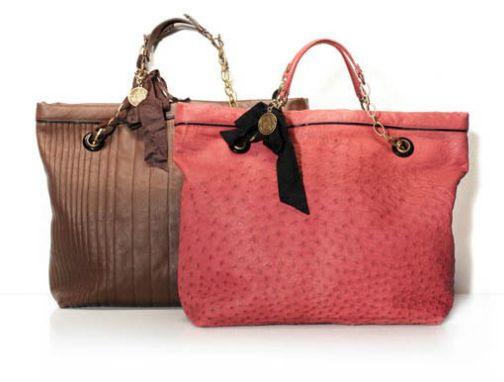Pink ostrich 'Amalia' shopping bag, Lanvin  #handbags #bags #purse #accessories