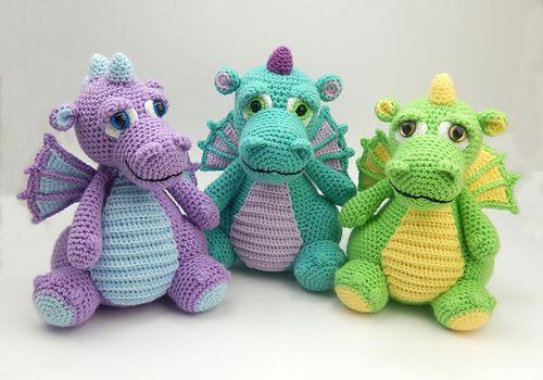 Lars the Dragon amigurumi pattern | Crochet toy pattern | lilleliis | 350x500