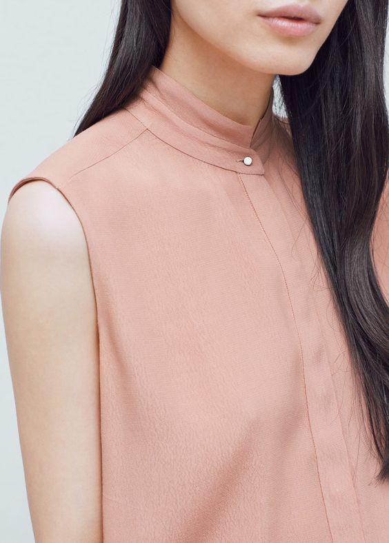 Blusa fluida botões | MANGO