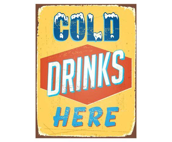 PAINEL DECORATIVO COLD DRINKS - 40X30CM   Westwing - Casa & Decoração