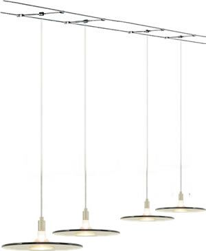Kable Lite With Biz Pendants Suspended From Tech Lighting Or Monorail Are An