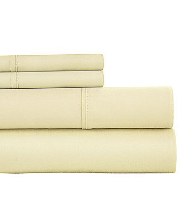 Look what I found on #zulily! Ivory Egyptian Cotton-Blend 800-Thread Count Sheet Set #zulilyfinds