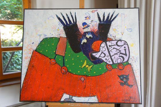 Paul Mangold - Aycryl auf Leinen