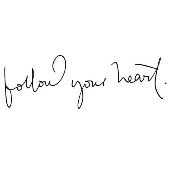 Siga seu coração <3:
