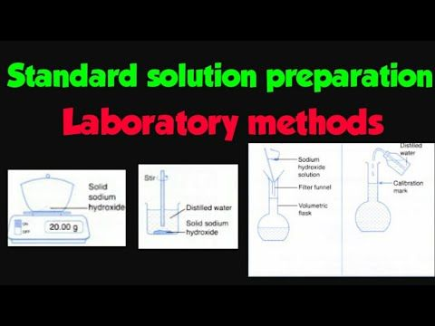 Standard Solution Preparation Laboratory Methods Well Explained Experimentally 1dm3 0 5 M Naoh Youtube Solutions Method Preparation