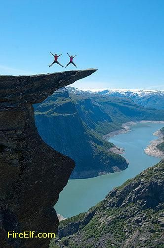 Norway Jump On The Mountain