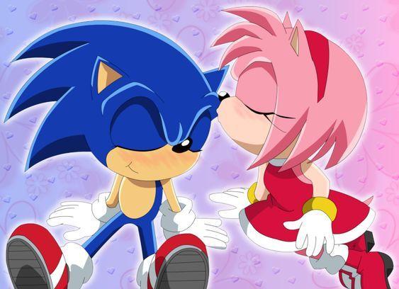 Amy Kiss Sonic By Kittykun123 Deviantart Com On Deviantart