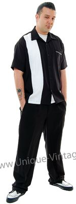 Black And White Single Panel Lounge Shirt - S to 3X