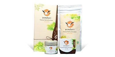 ZENDORI Matcha Green Tea Powder - Premium Quality - Culinary Grade from Japan - Comes In a Beautiful Gift-ready Packaging, 3.5oz/100g - Perfect Father's Day Present