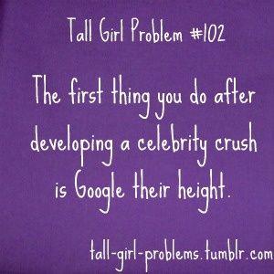 Tall Girl Problem #102.. hhahaha so true. Joseph Gordon Levitt or Josh Hutcherson and I weren't meant to be... D':