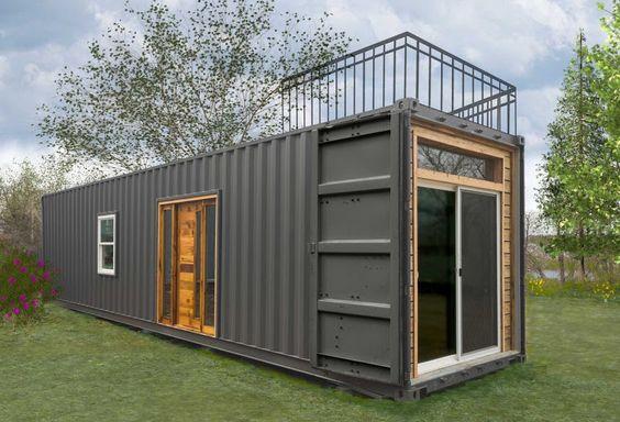 Cette superbe maison conteneur est une nouvelle petite maison disponible de la…