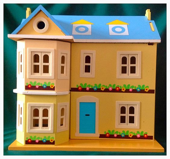 vintage wooden Dollhouse