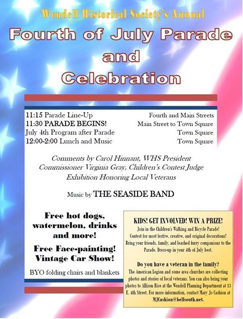 july 4th events raleigh