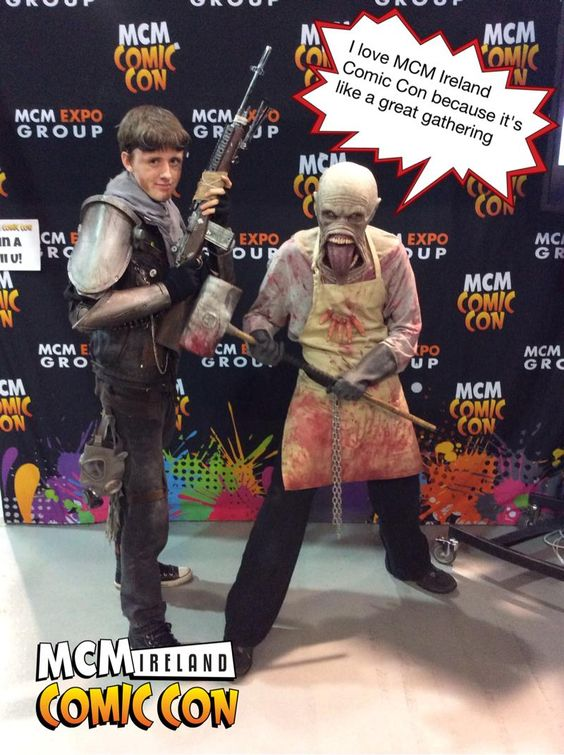 I love MCM Ireland Comic Con because it's like a great gathering #ComicCon #Ireland #Pixe